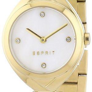 Esprit Dress Es108072002 Kello Valkoinen / Kullansävytetty