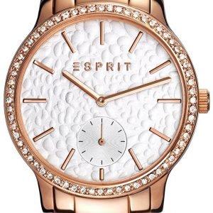 Esprit Dress Es108112005 Kello Valkoinen / Punakultasävyinen