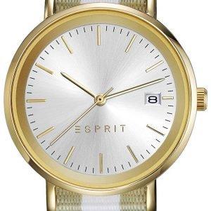 Esprit Dress Es108362002 Kello Hopea / Tekstiili
