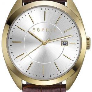Esprit Dress Es108821003 Kello Hopea / Nahka