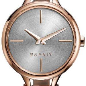 Esprit Dress Es109102002 Kello Hopea / Punakultasävyinen