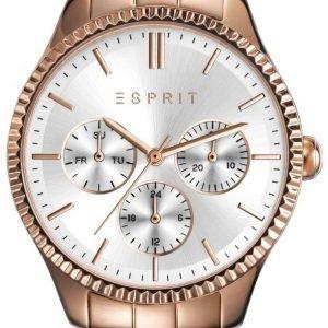 Esprit Es108942003 Kello Hopea / Punakultasävyinen