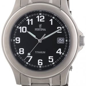 Festina Classic F16458-3 Kello Musta / Titaani