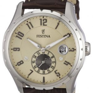 Festina Dress F16486-2 Kello Samppanja / Nahka