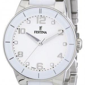 Festina Dress F16531-1 Kello Valkoinen / Teräs