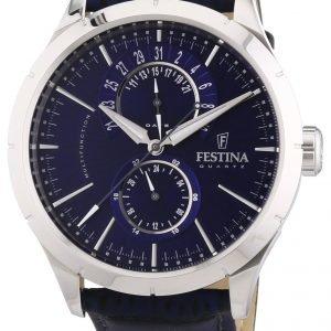 Festina Dress F16573-7 Kello Sininen / Nahka