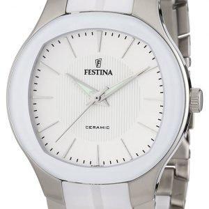 Festina Dress F16627-1 Kello Valkoinen / Teräs