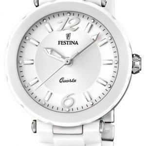 Festina Dress F16640-1 Kello Valkoinen / Keraaminen
