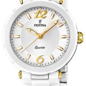 Festina Dress F16640-3 Kello Valkoinen / Keraaminen