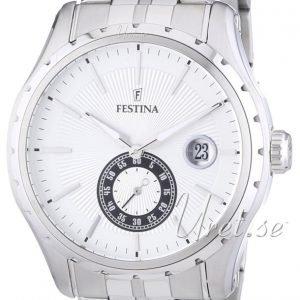 Festina Dress F16679-1 Kello Valkoinen / Teräs