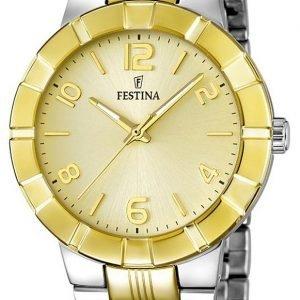 Festina Dress F16712-1 Kello Samppanja / Kullansävytetty