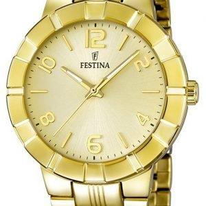 Festina Dress F16713-2 Kello Samppanja / Kullansävytetty