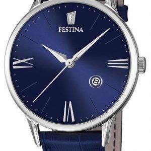 Festina Dress F16824-3 Kello Sininen / Nahka