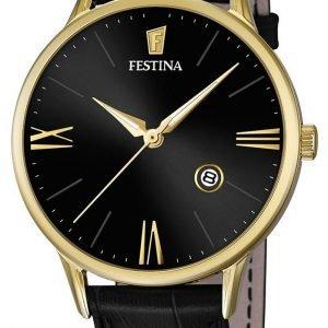 Festina Dress F16825-4 Kello Musta / Nahka