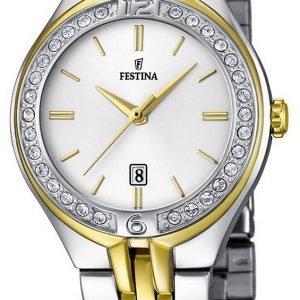 Festina Dress F16868-1 Kello Valkoinen / Kullansävytetty