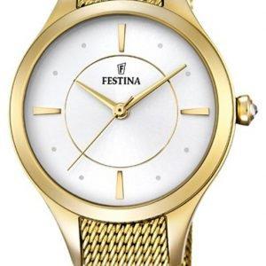 Festina Dress F16959-1 Kello Valkoinen / Kullansävytetty