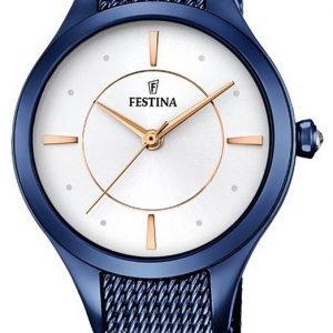 Festina Dress F16961-1 Kello Valkoinen / Teräs