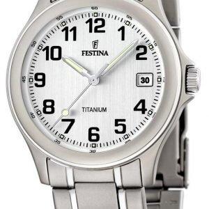 Festina F16458-1 Kello Valkoinen / Titaani