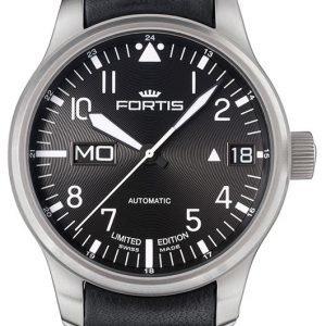 Fortis F-43 700.10.81.L01 Kello Musta / Nahka