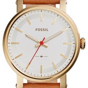 Fossil Boyfriend Es4181 Kello Valkoinen / Nahka