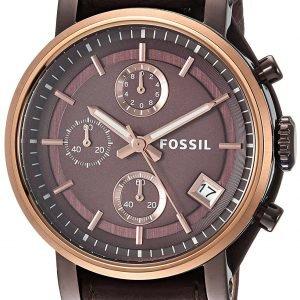 Fossil Boyfriend Es4286 Kello Ruskea / Nahka