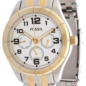Fossil Bq1410 Kello Valkoinen / Kullansävytetty Teräs