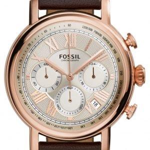 Fossil Buchanan Fs5103 Kello Valkoinen / Nahka