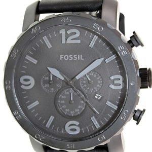 Fossil Casual Jr1354 Kello Musta / Nahka