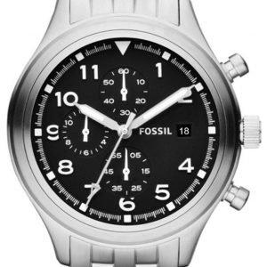 Fossil Chronograph Jr1431 Kello Musta / Teräs