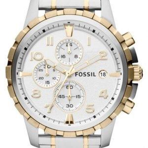 Fossil Dean Fs4795 Kello Valkoinen / Kullansävytetty Teräs