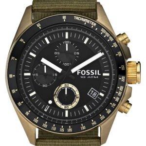 Fossil Decker De5017 Kello Musta / Tekstiili