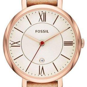 Fossil Dress Es3487 Kello Kulta / Nahka