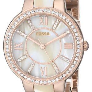 Fossil Dress Es3716 Kello Valkoinen / Punakultasävyinen