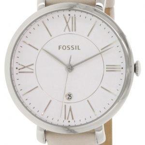 Fossil Dress Es3793 Kello Valkoinen / Nahka