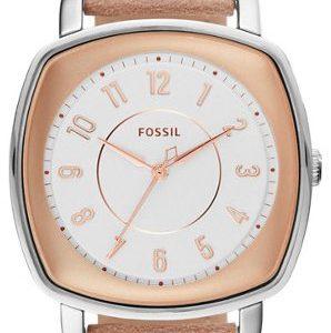Fossil Dress Es4196 Kello Valkoinen / Nahka