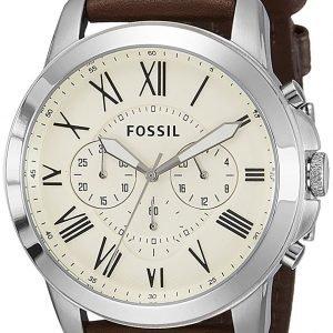 Fossil Dress Fs4735 Kello Valkoinen / Nahka