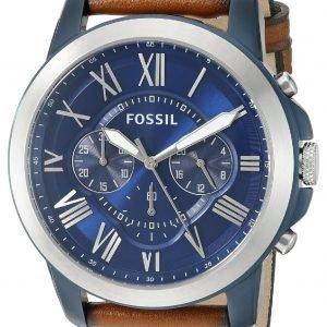 Fossil Dress Fs5151 Kello Sininen / Nahka