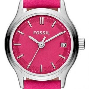 Fossil Es3271 Kello Pinkki / Nahka