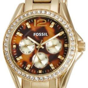 Fossil Es3364 Kello Monivärinen / Kullansävytetty