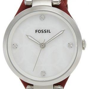 Fossil Es3416 Kello Valkoinen / Nahka