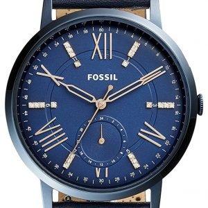 Fossil Es4109 Kello Sininen / Nahka