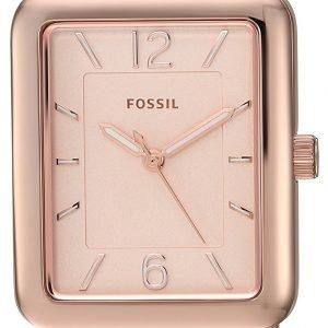 Fossil Es4156 Kello Punakultaa / Punakultasävyinen
