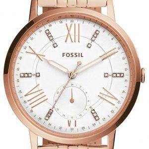Fossil Es4246 Kello Valkoinen / Punakultasävyinen