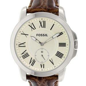Fossil Fs4963 Kello Valkoinen / Nahka