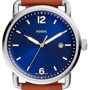 Fossil Fs5325 Kello Sininen / Nahka