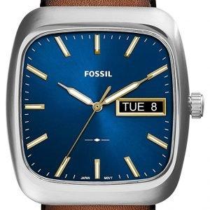 Fossil Fs5334 Kello Sininen / Nahka
