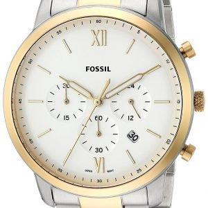 Fossil Fs5385 Kello Valkoinen / Kullansävytetty Teräs