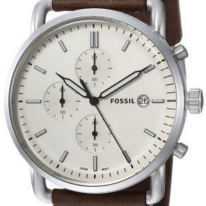 Fossil Fs5402 Kello Valkoinen / Nahka