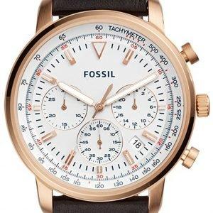Fossil Fs5415 Kello Valkoinen / Nahka