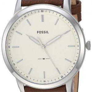 Fossil Fs5439 Kello Valkoinen / Nahka
